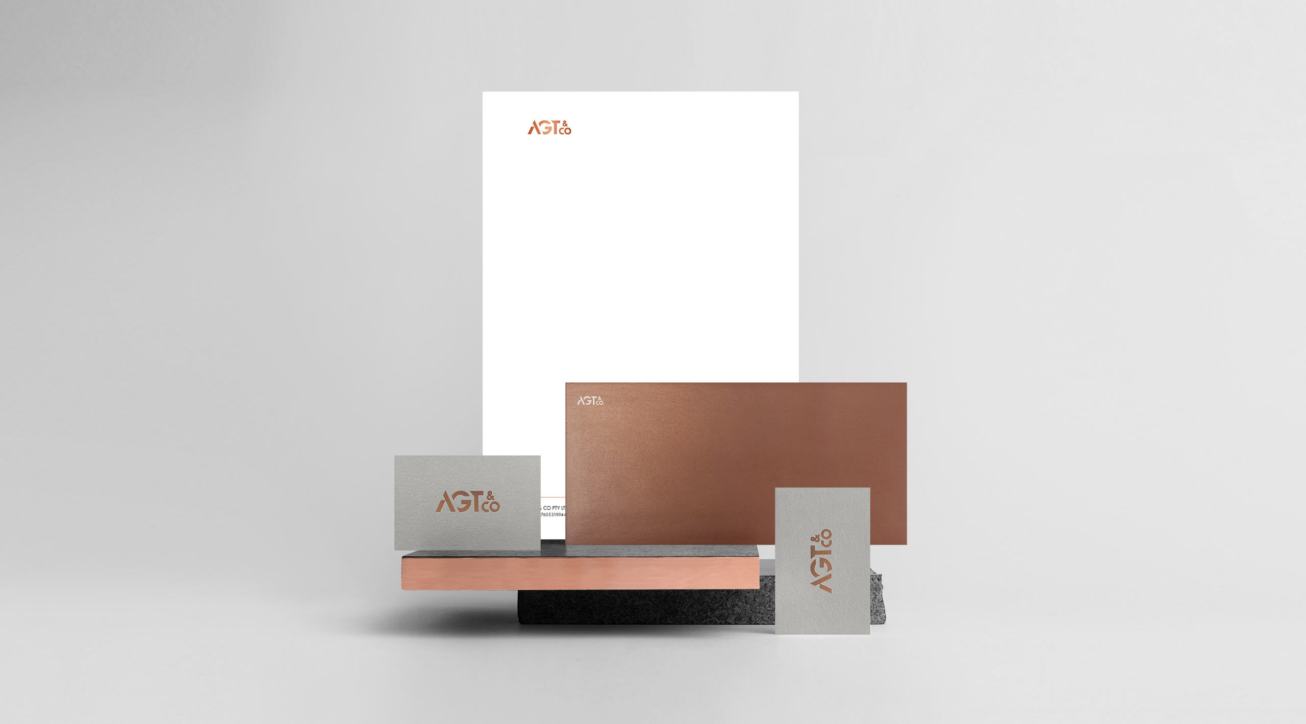 agt co copper stationery front view