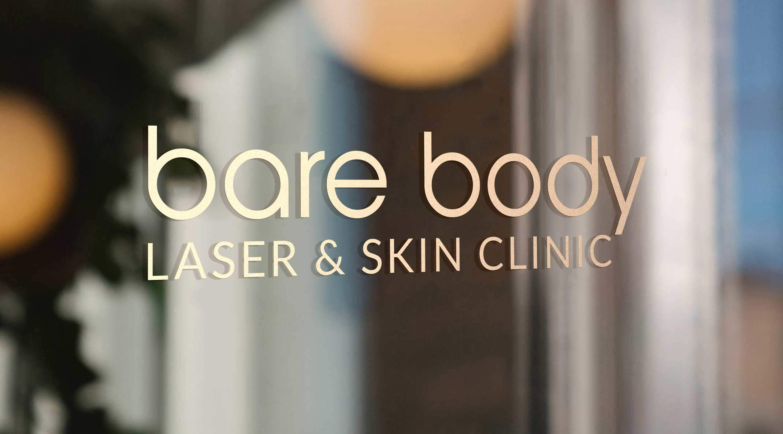 bare body window signage