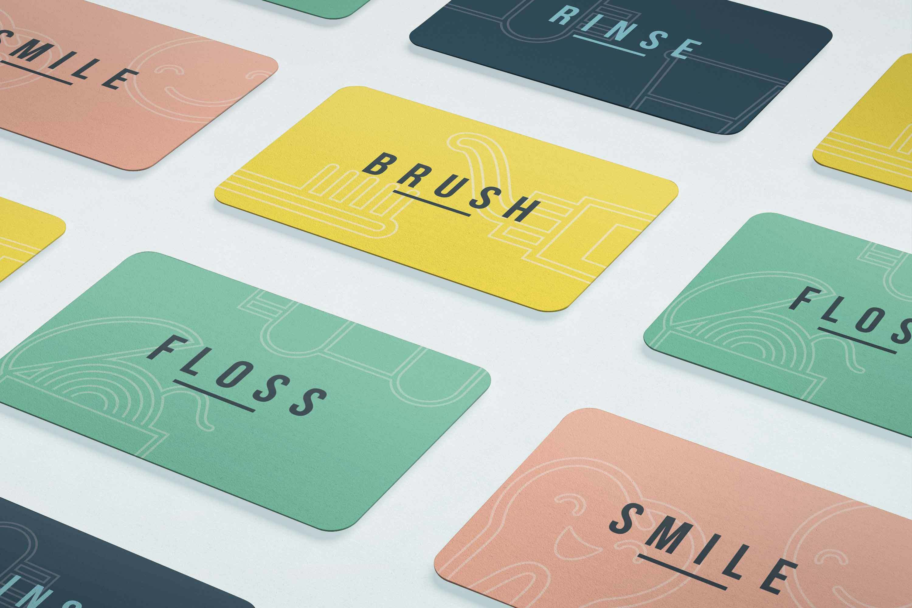 brunswick dentist branding business cards